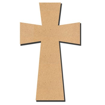 "Large Cross - 11"" tall x 1/4"" thick MDF"