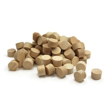 Maple Side Grain Plugs (100pc) - 3/8""