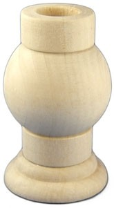 "Ball Candleholder - 4"" tall x 2 3/8"" wide"