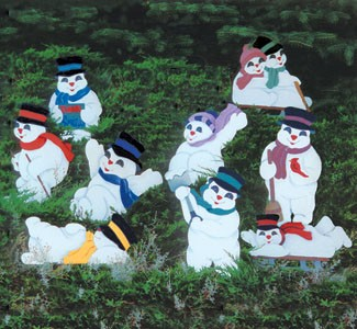 "Plan-Playful Snowmen (up to 22"" high)"