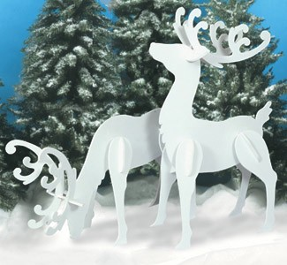 "Plan-Large White Reindeer (55"" x 30"")"
