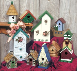 "Plan-Decorative Birdhouses #3 (up to 13"" high)"