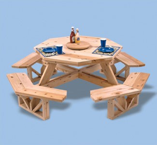 "Plan-Octagon Picnic Table (50"" tabletop)"