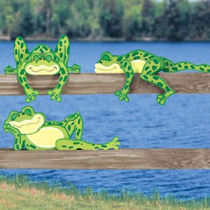 "Plan-Lazy Frog Rail Pets (up to 21"" long-5 designs)"