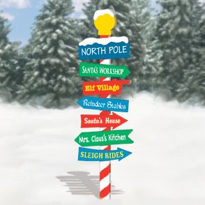 Plan-North Pole Sign - 72""