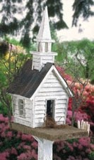 "Plan-Rustic Church Birdhouse (16"" high)"