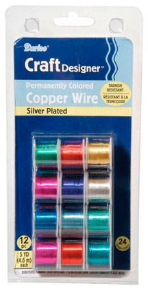 Coloured Craft Wire Set - 24g 12pc 60yds