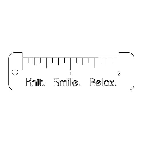 Custom Laser Cut & Etching - Knit Smile Relax