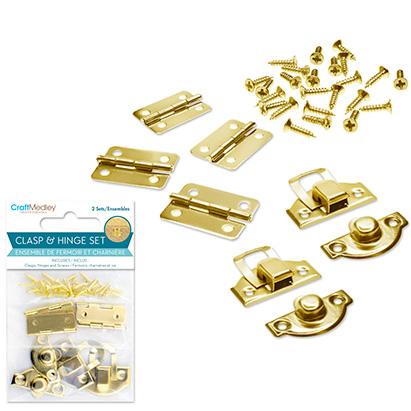 Clasp Amp Hinge Set 1 Gold