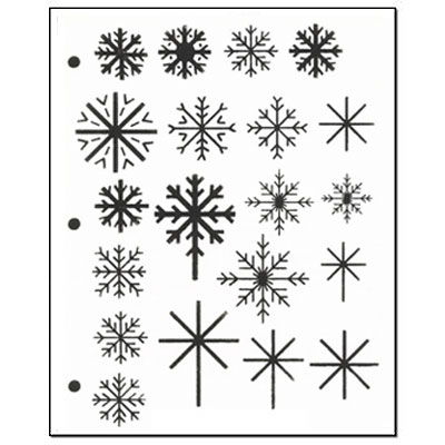 Stencil Snowflake Sampler