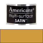 Muted Gold Americana Satin Paint - 2oz
