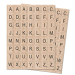 Chipboard Letter Stickers (2cm x 2cm) - 2 sheets