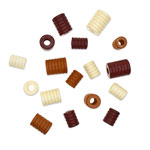 Macrame Bead Medley - Barrel Groove 17pc