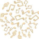 Laser-Cut Wood Shapes - Musical Notes