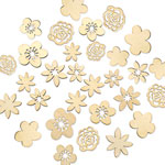 Laser-Cut Wood Shape Assortment - Floral