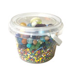 Tub of Assorted Beads - Multi Colour & Size - 230ml