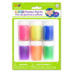 Poster Paint 6-pot - Rainbow Glitter