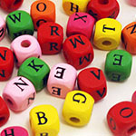 Wood Letter Beads (10mm) - 60pc Assorted MultiMix