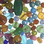 Tub of Glass Beads - Multi Colour & Size - 470ml