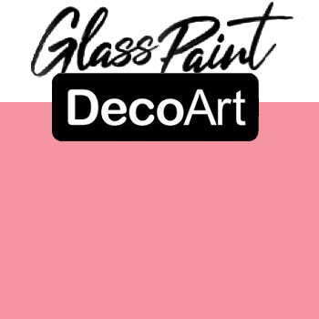 DecoArt Glass Paint - Coral 2oz