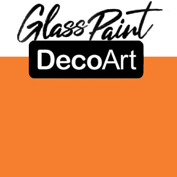 DecoArt Glass Paint - Orange 2oz