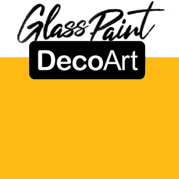 DecoArt Glass Paint - Yellow 2oz
