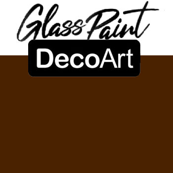 DecoArt Glass Paint - Brown 2oz