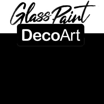 DecoArt Glass Paint - Black 2oz
