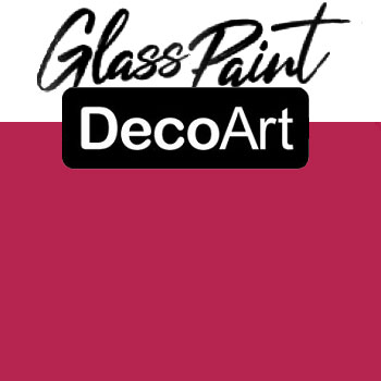 DecoArt Glass Paint - Fuchia 2oz