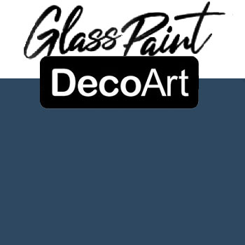 DecoArt Glass Paint - Navy 2oz