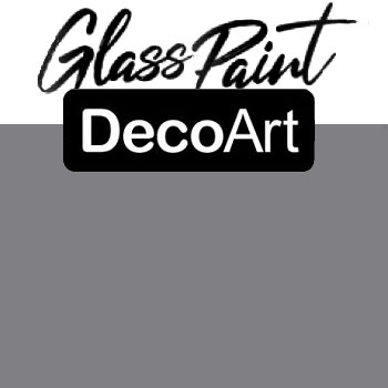 DecoArt Glass Paint - Grey 2oz