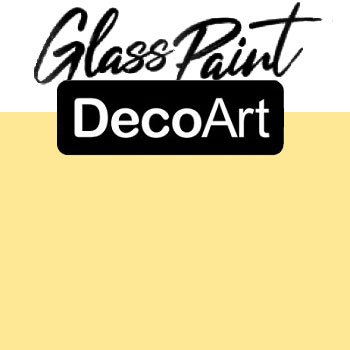 DecoArt Glass Paint - Light Yellow 2oz