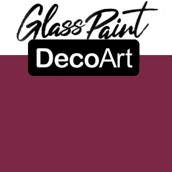 DecoArt Glass Paint - Berry 2oz