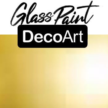 DecoArt Glass Paint - Gold 2oz