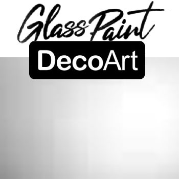 DecoArt Glass Paint - Silver 2oz