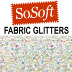 SoSoft Glitters Clear Ice - 2oz
