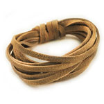 Suede Cording - 3mm x 2m - Natural