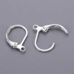 Leverback Earring Findings - Silver - 10pc