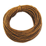 Waxed Cord - Dark Natural - 1mm x 10yds