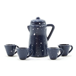 Miniature - Blue Enamelware Coffee Set 6pc