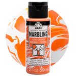 FolkArt Marbling Paint - Orange 2oz