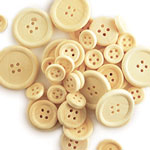 Wooden Buttons Natural - 40pc Assorted