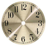 Metal Clock Dial - Brushed Brass - 4 1/2