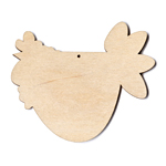 "Funky Chicken - Christmas Lights - 5"" wide (Retired Shape)"