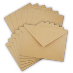 Cards & Envelopes - Kraft - 4 1/2