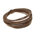 Wired Linen Cord 1.6mm x 3m (6-ply) - Brown