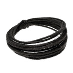 Wired Linen Cord 1.6mm x 3m (6-ply) - Black