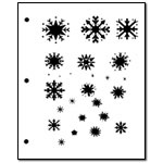 Stencil - Small/Medium Snowflakes