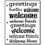 Stencil - Welcome Words