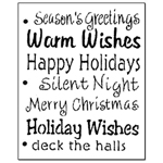 Stencil - Large Winter Greetings